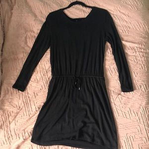 Gap long sleeve tie up dress
